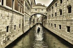 Seufzerbrücke in Venedig, Italien Stockfotografie