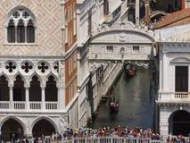Seufzerbrücke Venedig, nahe Ansicht Lizenzfreies Stockfoto