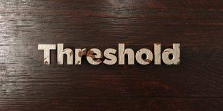 Seuil - titre en bois sale sur l'érable - image courante gratuite de redevance rendue par 3D illustration stock