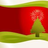 Seul arbre de Noël Image stock
