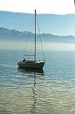 Seul bateau image libre de droits