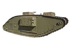 Seul char de combat de la première guerre mondiale Images libres de droits