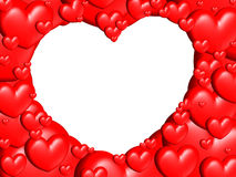 Seul coeur avec un bon nombre de coeurs illustration de vecteur