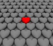 Seul coeur/seulement amour/seulement un Illustration Libre de Droits