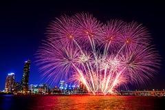 Seul fajerwerków Międzynarodowy festiwal w południowym Korea Obrazy Royalty Free