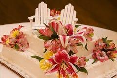 Seul gâteau de mariage Image libre de droits