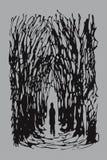 Seul homme (vecteur) illustration de vecteur