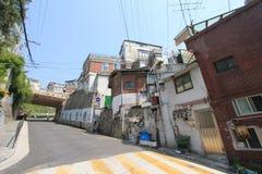 Seul Ihwa malowidła ściennego wioski ulicy widok Obraz Stock