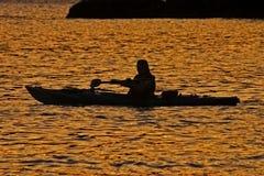 Seul kayak photographie stock