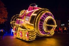SEUL KOREA, GRUDZIEŃ, - 21,2014: Piękna parada przy nocą Obrazy Royalty Free