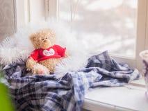 Seul le nounours d'ours à la maison Photo libre de droits