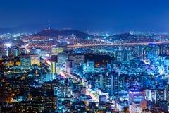 Seul linia horyzontu zdjęcie royalty free