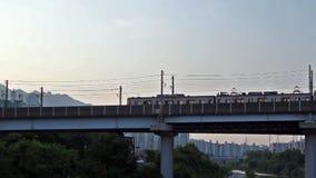 Seul metro biega na moscie zdjęcie wideo