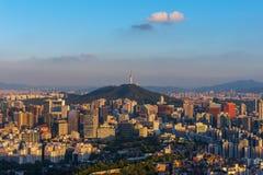 Seul miasta linia horyzontu obrazy royalty free