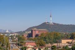Seul miasto i Seul Górujemy najlepszy widok Południowy Korea Zdjęcie Royalty Free