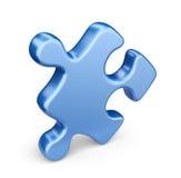 Seul morceau de puzzle denteux. icône 3D d'isolement Images libres de droits