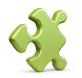 Seul morceau de puzzle denteux. icône 3D d'isolement Photographie stock libre de droits