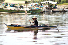 Seul pêcheur photographie stock