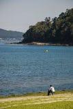 Seul pêcheur Image libre de droits