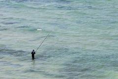 Seul pêcheur Photos stock