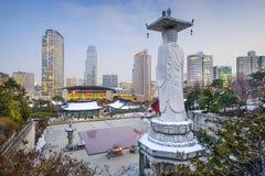Seul, Południowego Korea pejzaż miejski Zdjęcie Stock