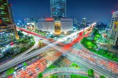 SEUL POŁUDNIOWY KOREA, MAJ, - 9: Lotte światu centrum handlowe Fotografia Royalty Free