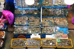 Seul, Południowy Korea, May 15, 2017 Noryangjin rybi rynek zdjęcie stock