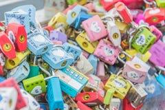 SEUL POŁUDNIOWY KOREA, Październik, - 29: Miłość klucza ceremonia przy N Seo Fotografia Royalty Free