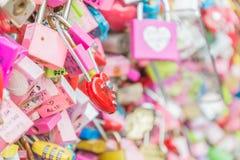SEUL POŁUDNIOWY KOREA, Październik, - 29: Miłość klucza ceremonia przy N Seo Zdjęcia Stock