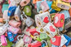 SEUL POŁUDNIOWY KOREA, Październik, - 29: Miłość klucza ceremonia przy N Seo Zdjęcie Stock