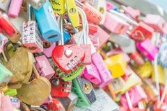 SEUL POŁUDNIOWY KOREA, Październik, - 29: Miłość klucza ceremonia przy N Seo Obraz Royalty Free