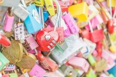 SEUL POŁUDNIOWY KOREA, Październik, - 29: Miłość klucza ceremonia przy N Seo Zdjęcia Royalty Free