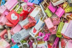 SEUL POŁUDNIOWY KOREA, Październik, - 29: Miłość klucza ceremonia przy N Seo Obrazy Royalty Free