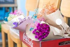 Seul Południowy Korea, Sierpień, - 09, 2015: Bukiety kwiaty w kwiatu sklepie przy Dong, Seul, Południowy Korea Obraz Stock