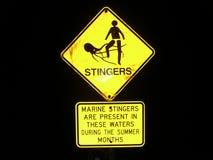 Seul signal d'avertissement Photo libre de droits
