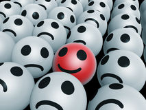 Seul visage heureux Images libres de droits
