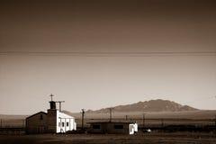 Seule église dans le désert Photographie stock