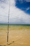 Seule canne à pêche Photos stock
