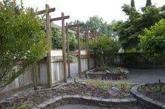 Seule frontière de sécurité en bois Photo libre de droits