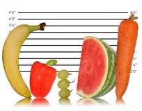 Seule image saine de consommation de fruit Photo stock