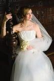 Seule jeune mariée Images libres de droits