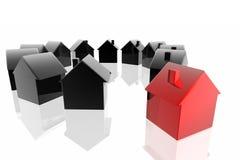 Seule maison rouge Photo libre de droits