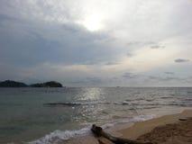 Seule plage Photo libre de droits