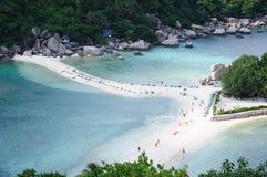 Seule plage en mer Photographie stock libre de droits
