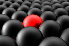 Seule sphère rouge Image stock