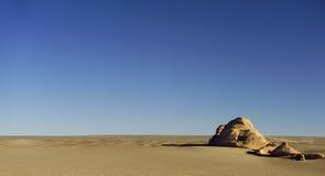 Seule surface terrestre yadan dans le désert de Gobi Photographie stock
