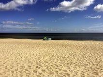 Seulement à la plage sur la mer baltique allemande images stock