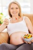 Seulement consommation saine pour mon bébé. Photographie stock
