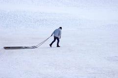 Seulement dans la neige Photos libres de droits
