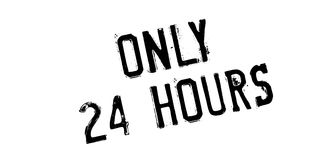 Seulement 24 heures de tampon en caoutchouc Photo stock